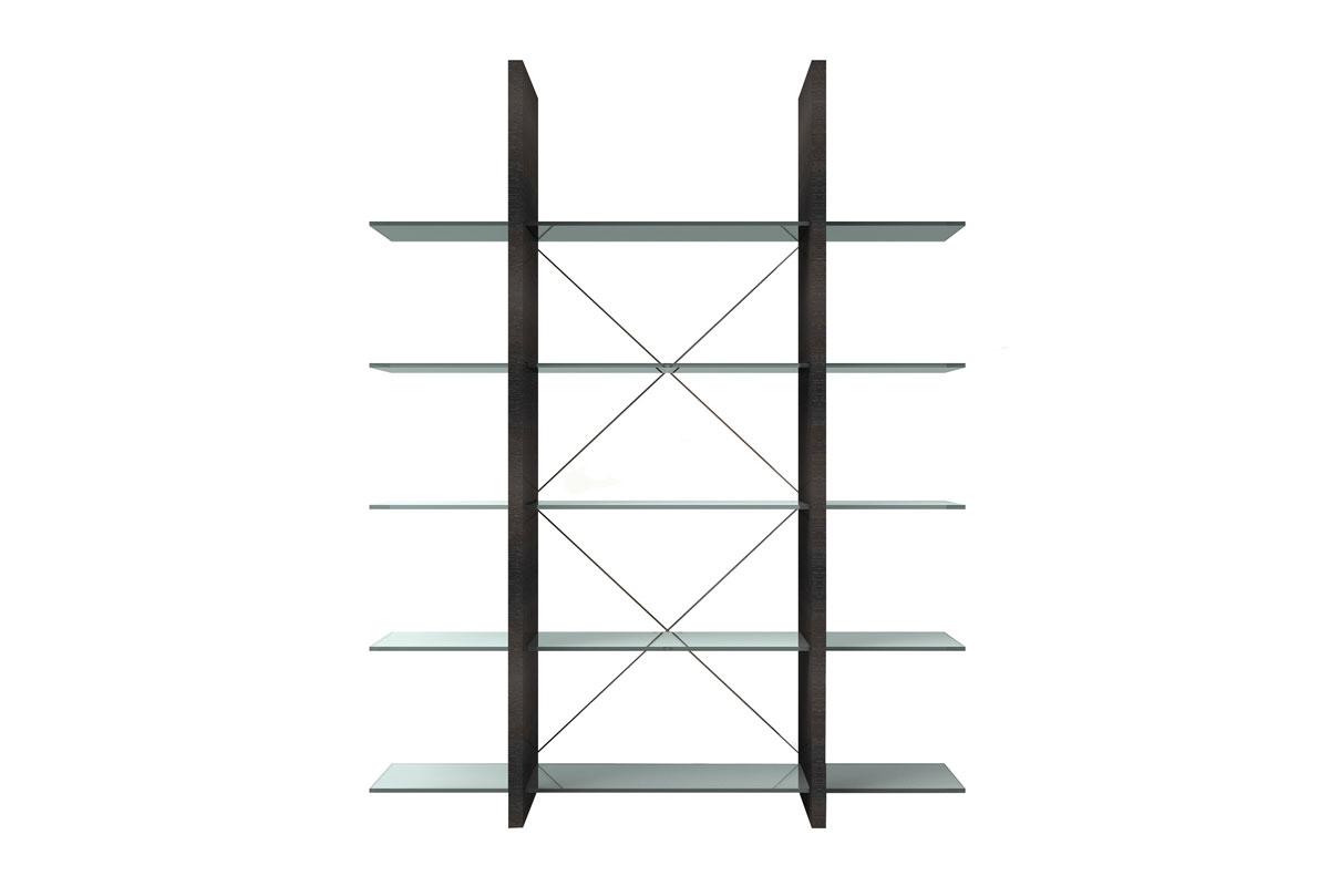 Versátil e bem clean, o móvel, que é do Estúdio Natuzzi Itália, possui prateleiras de vidro que podem ser misturadas e combinadas entre si. Na Ton Sur Ton, R$ 8.088.