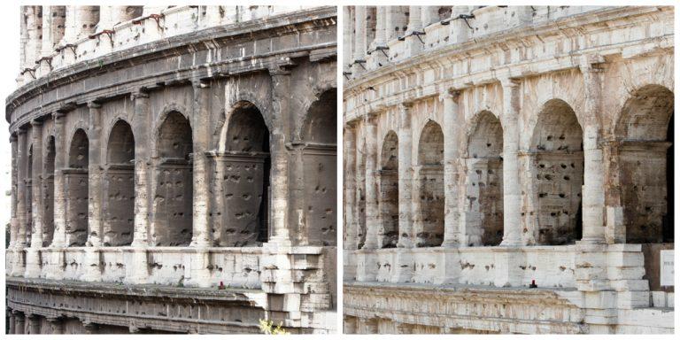 Veja o 'antes' e 'depois' de um dos monumentos mais simbólicos da capital italiana (Foto: divulgação site Tod's)