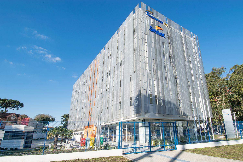 Prédio do Senac Portão executado pela RAC Engenharia está pleiteando a certificação LEED Platinum.  Foto: RAC Engenharia / Divulgação