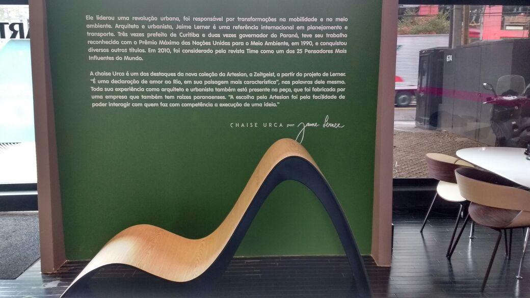 Jaime Lerner cria móvel em homenagem ao Rio de Janeiro