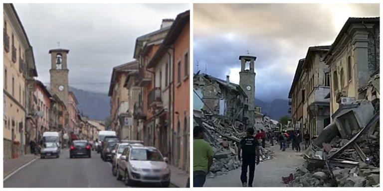 Antes e depois mostra destruição de patrimônio histórico em Amatrice