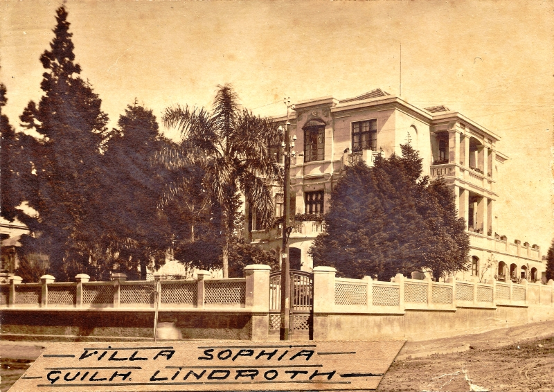 Villa Sophia em 1910 quando a paisagem da cidade ainda era rural. Foto: Germano Fleury/ Coleção Família Mueller