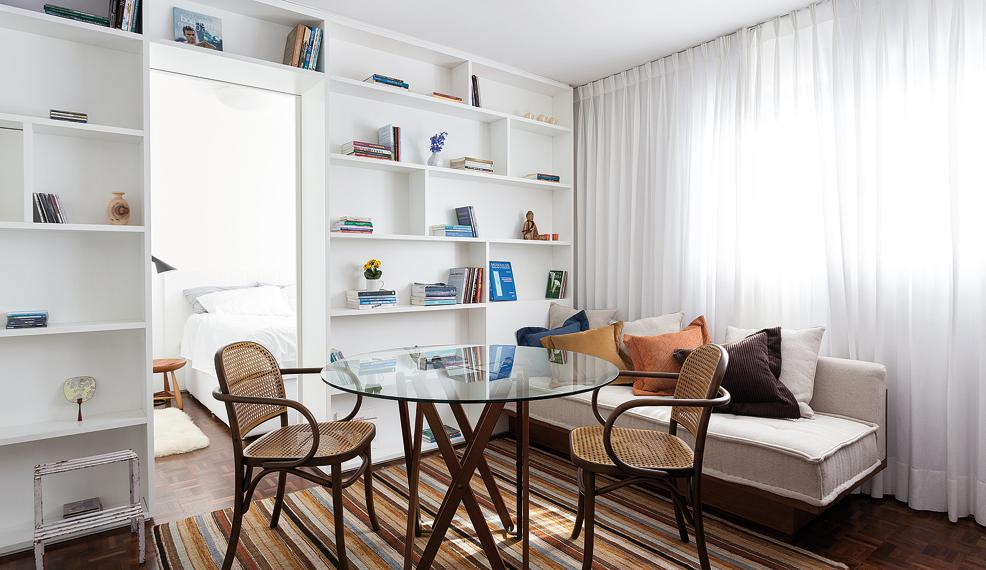 Apartamento compacto, projetado por