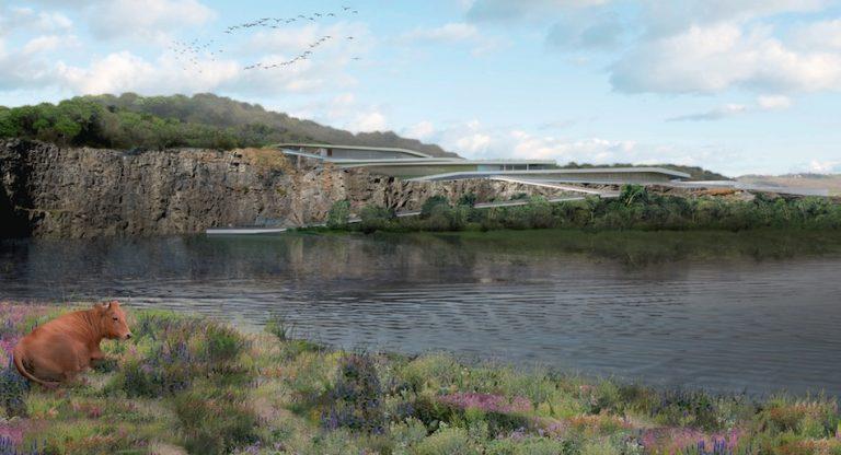 Hyruan Bolsoni Minosso projetou o Museu da Mata Atlântica para o terreno de uma pedreira desativada. Imagem: Opera Prima/Reprodução