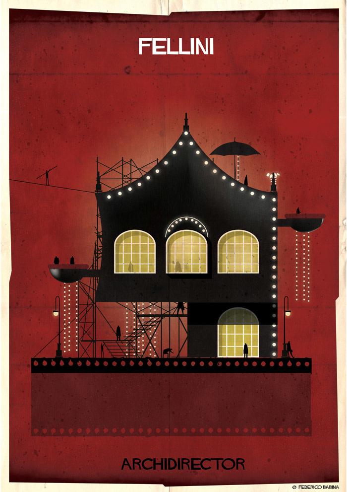 Projeto mostra como seriam as casas de famosos diretores com base em seus filmes