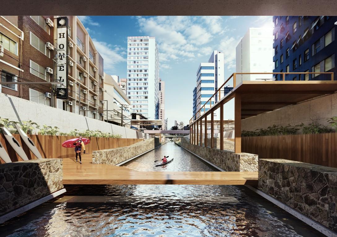 Reabertura de rios é sugeria por escritório de arquitetura curitibano. Foto: Divulgação