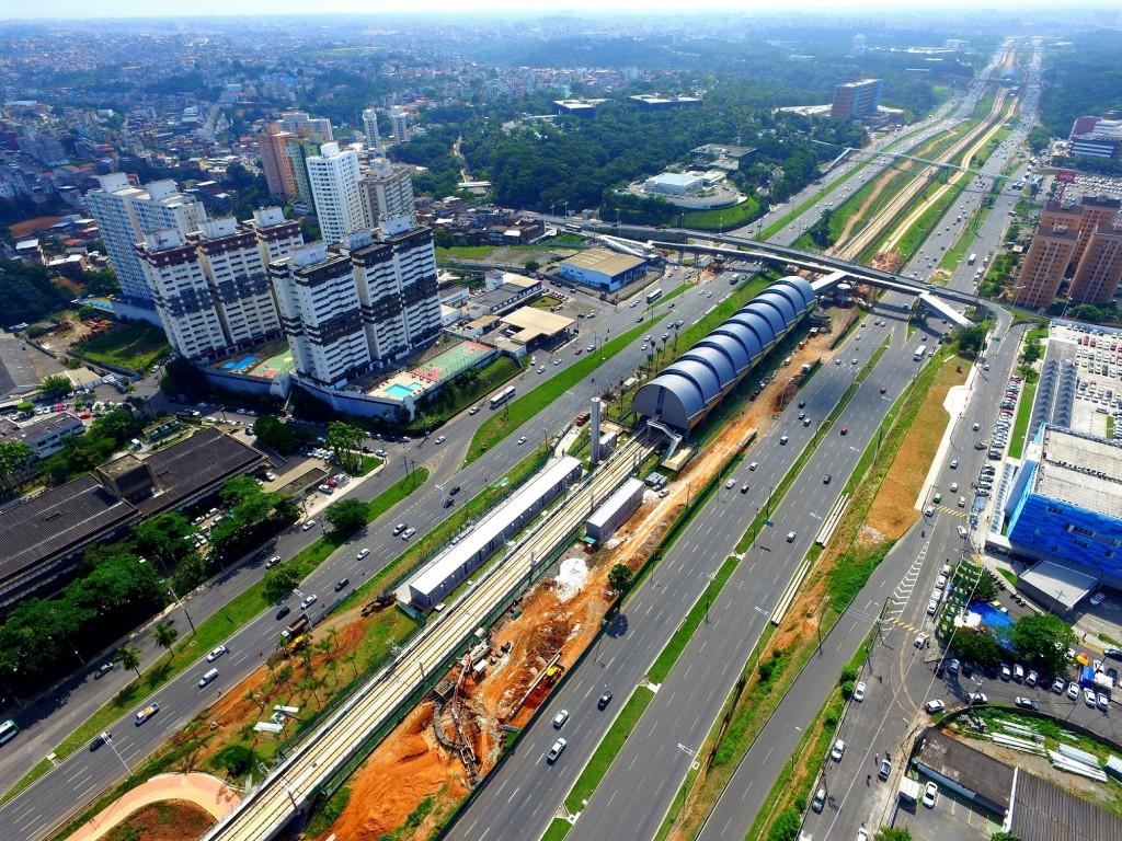 As nove estações estão localizadas na mesma avenida de Salvador. Foto: Divulgação