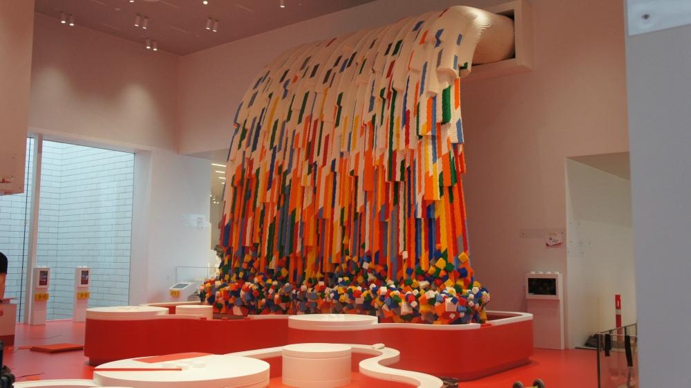 A zona vermelha. Foto: reprodução / LEGO.