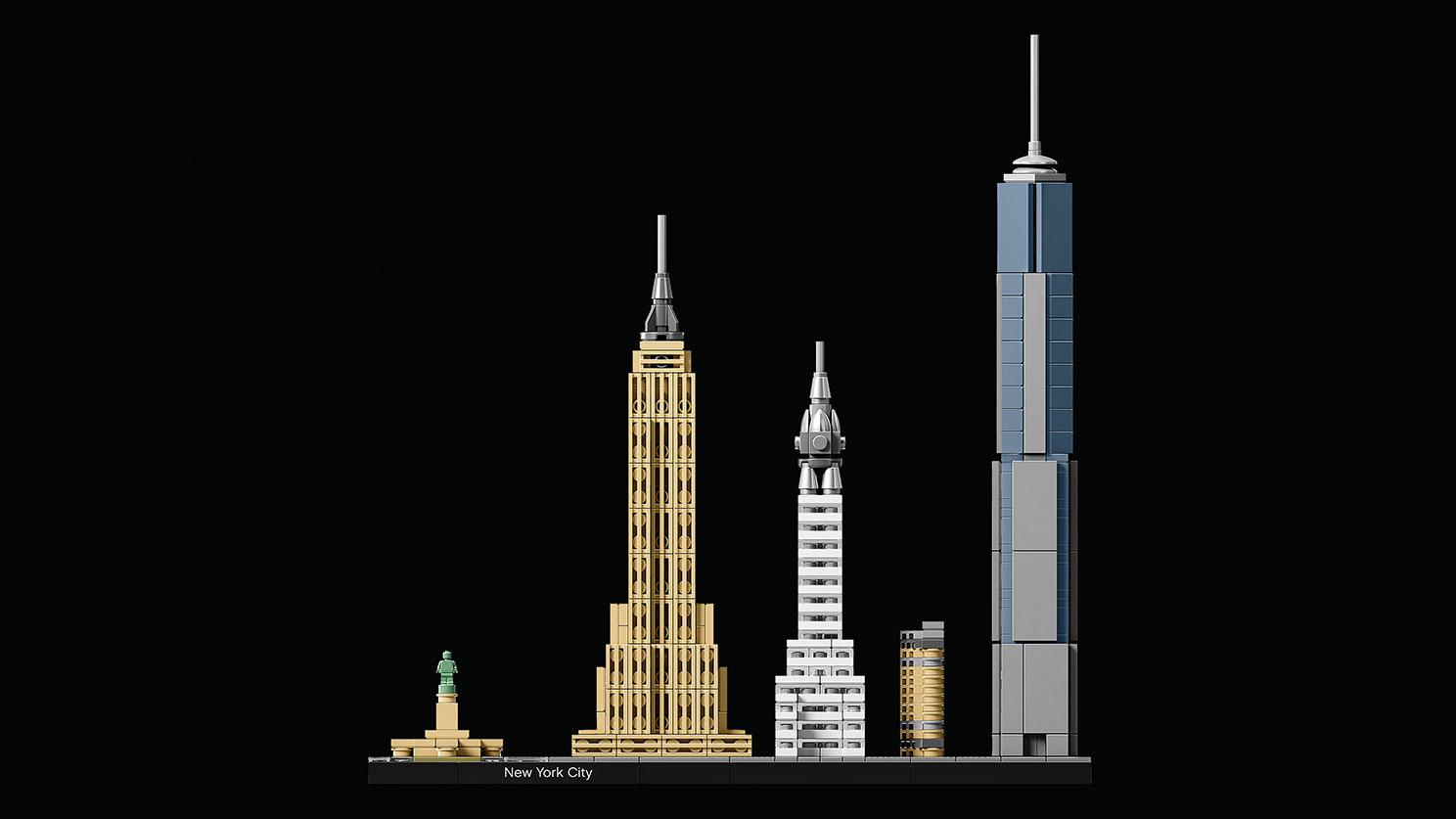Skyline de Nova Iorque. Foto: Divulgação/Lego