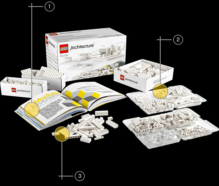Kit Architecture Studio. Foto: Divulgação/Lego