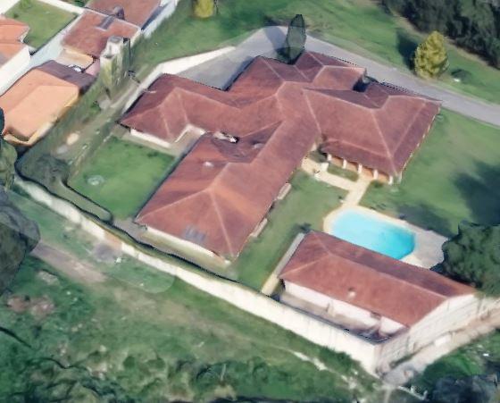Perspectiva aérea da mansão no Pilarzinho. Foto: Reprodução/Google Maps