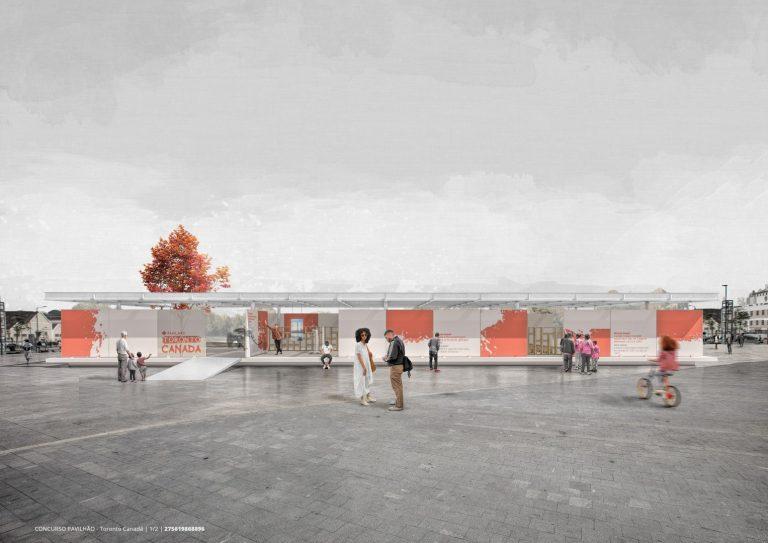 Arquiteto recém-formado ganhou concurso para um intercâmbio em Toronto ao propor uma pavilhão para a cidade canadense.  Imagem: Oliver Uszkurat / Divulgação