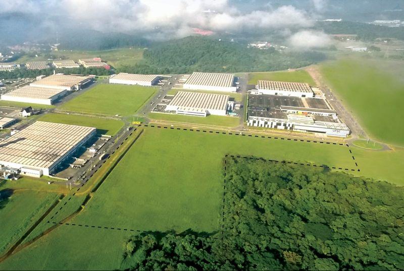 Detalhe da área, de 70 mil m², que receberá a implantação do Ágora Tech Park. Foto: Divulgação