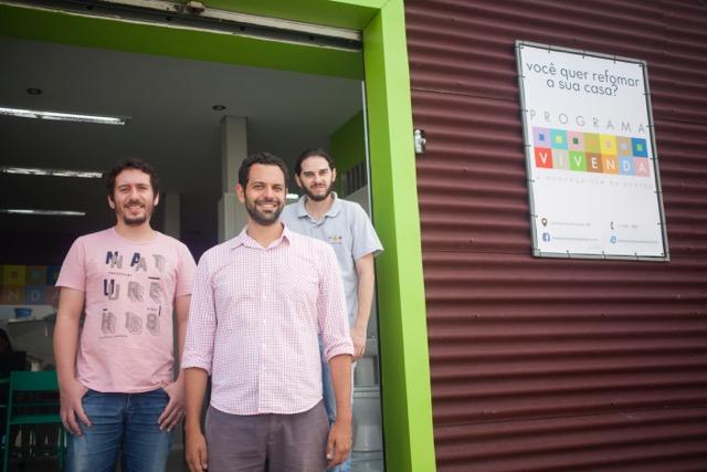 Os três fundadores do Programa Vivenda: Os sócios Igiano Lima, Fernando Assad e Marcelo Coelho. Foto: divulgação/Programa Vivenda