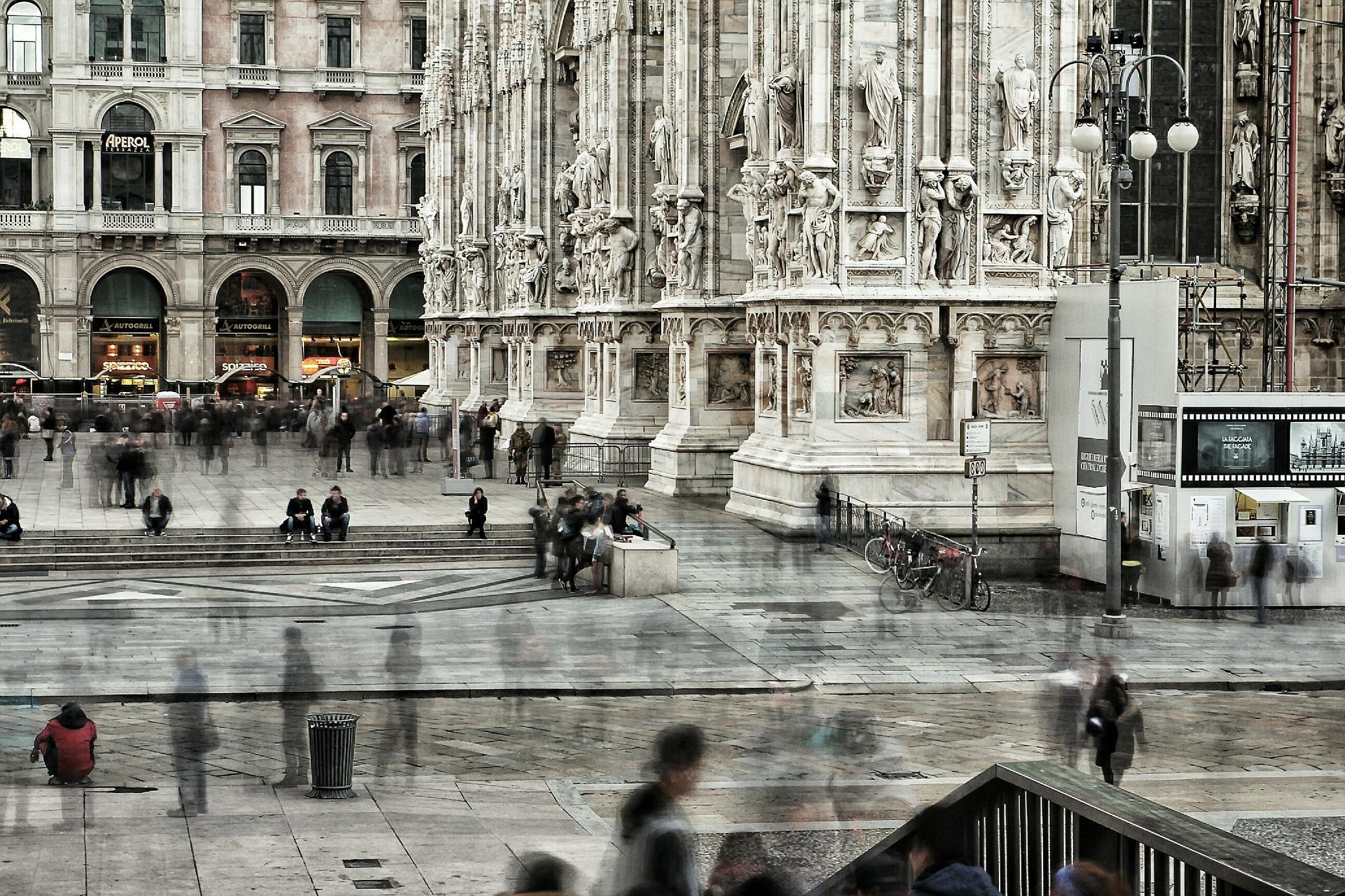 Centro de Milão, uma das principais referências da Itália para o design das cidades. Foto: Pixabay/Reprodução