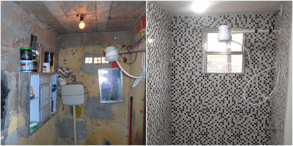 Reforma de banheiro realizada pela Moradigna. Foto: divulgação