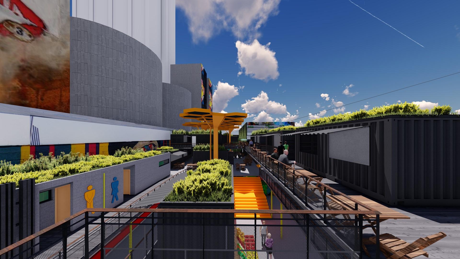"""""""Coberturas jardins"""" são marca da estética do projeto arquitetônico. Foto: divugação"""