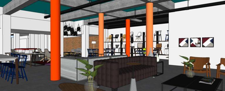 Projeto de reformulação da loja Inove Água Verde é assinado pelos arquitetos Edgard Corsi e Ana Boscardin. Imagens: Divulgação
