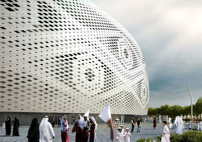 Estádio Al Thumama, assinado por Ibrahim Maidah, explora história, simbolismo e cultura do Catar. Foto: Supreme Committee for Delivery and Legacy