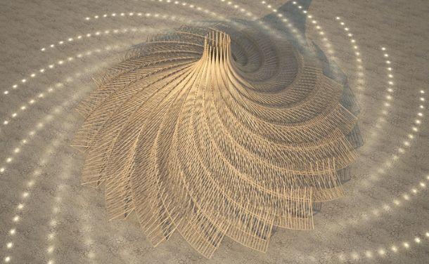 O templo Foto: Burning Man Journal/Reprodução/Archdaily