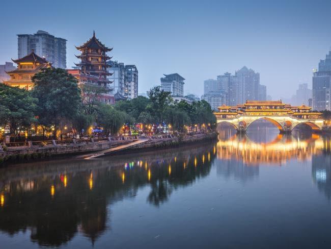 A cidade de Chegdu, no sudoeste da China, tem 14,45 milhões de habitantes. Foto: istock