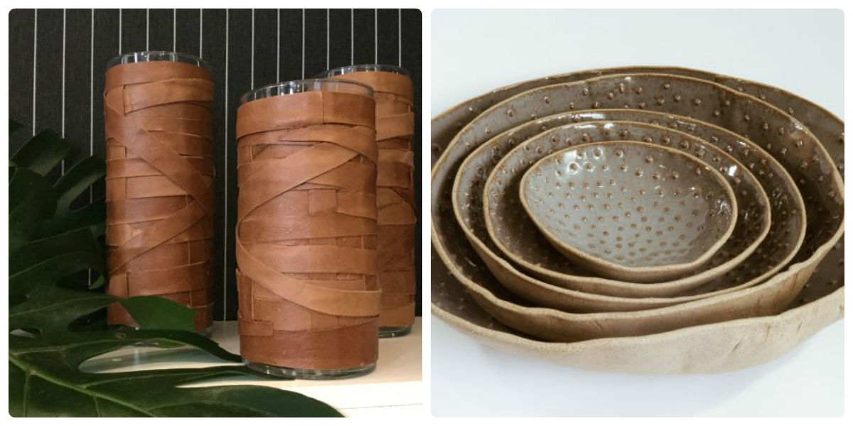Ôda + Feira na Rosenbaum terá peças de design de diferentes nomes nacionais. Nas fotos, peças de Renata McCartney e Spiral Cerâmicas. Fotos: Divulgação