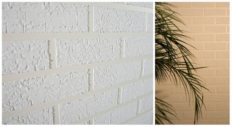 Com fita crepe e texturas na parede, dá para criar o efeito do tijolo aparente. E o melhor é que não precisa contratar mão de obra. Fotos: Divulgação