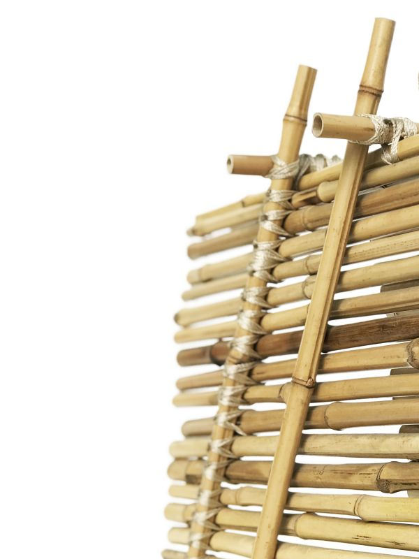 Uma das peças que será exposta na mostra traz o bambu como base. Foto: Divulgação