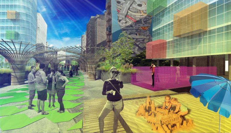 Mais pessoas, menos carros: transformação do Minhocão, em São Paulo, em parque urbano é uma tendência entre cidades inteligentes. Foto: reprodução/Jaime Lerner Arquitetos Associados