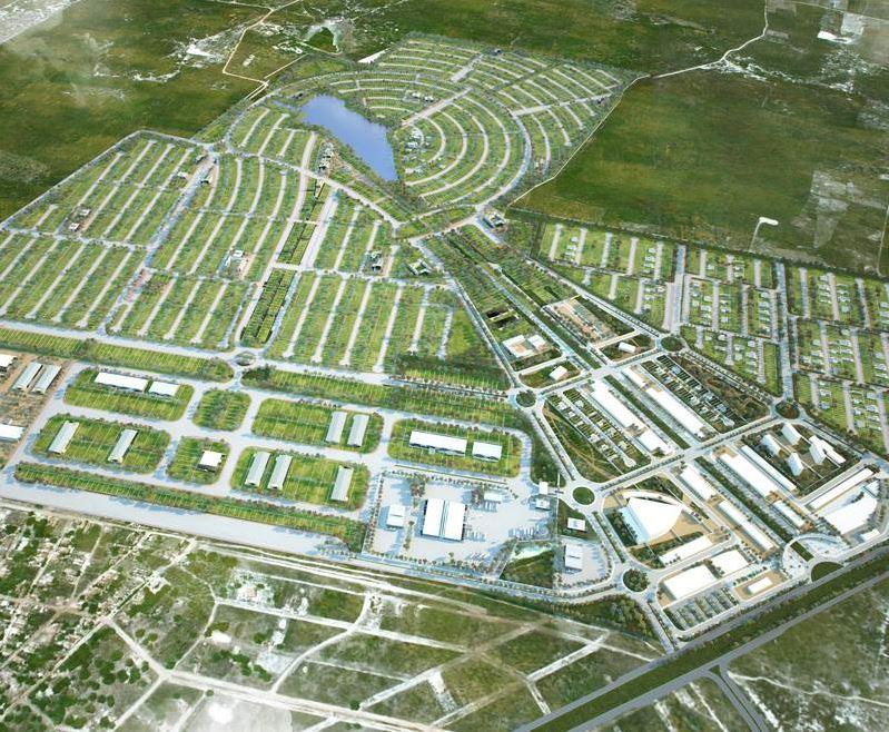 Projeção mostra como ficará a Smart City Laguna quando estiver pronta. Essa será a primeira cidade inteligente social do mundo. Imagem: Divulgação