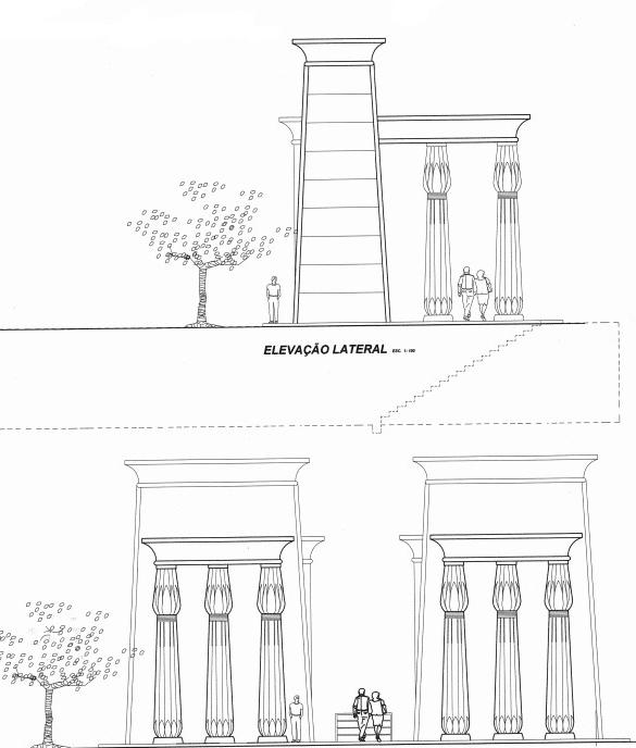 Complexo egípcio de Curitiba vai ganhar novo prédio com muralhas e templo subterrâneo