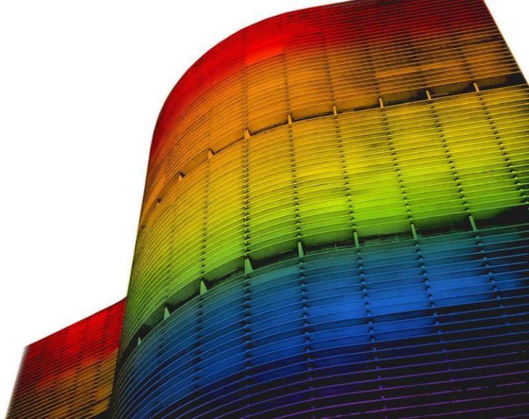 Simulação de como ficará a fachada iluminada. Imagem: Reprodução/A Bandeira