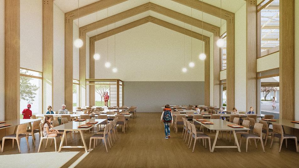 Pórticos de feitos de madeira laminada colada têm 2,5m de largura e podem ser combinados de forma a obter resultados diversos. Foto: divulgação