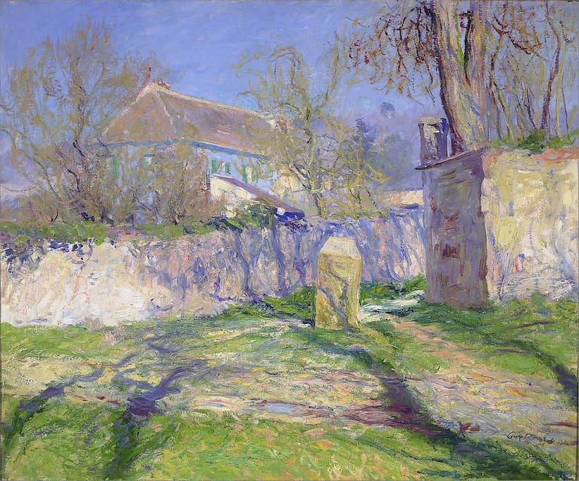 Casa foi pintada no estilo impressionista em 1910 por Guy Rose, um dos amigos de Monet. Foto: reprodução