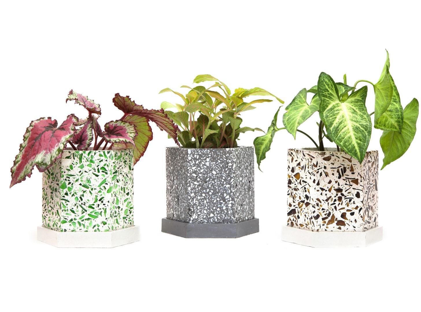Produtos com a textura de granilite estão em alta no design. Fotos: Divulgação