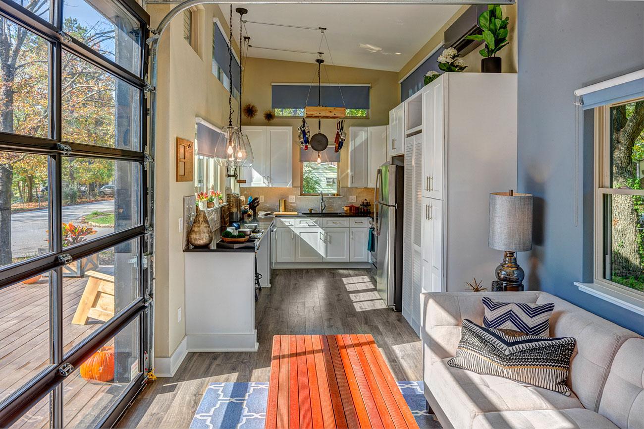 Interiores das tiny houses sempre são adaptados segundo o estilo de vida dos moradores. Foto: Don Shreve/Shreve Imaging