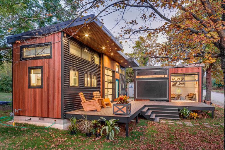 """Tiny House em Fayetteville, Estados Unidos, que foi ao ar no episódio 7 da 4ª temporada da série """"Movimento Tiny House"""". Foto: Don Shreve/Shreve Imaging"""