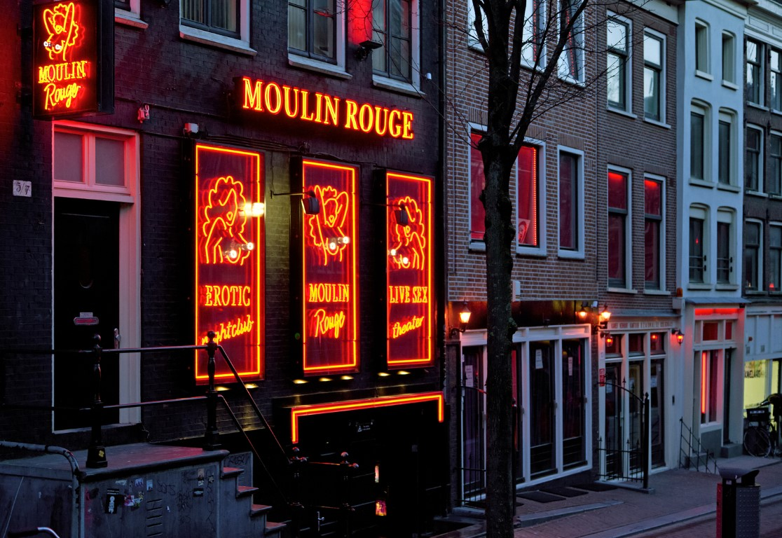 AMSTERDAM, NETHERLANDS - MARCH 26: Red light district called De Wallen on March 26, 2013 in Amsterdam