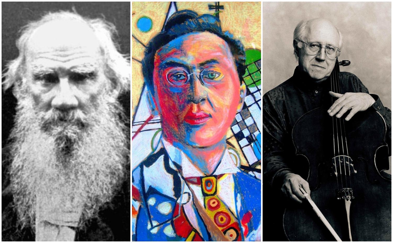Três grandes artistas russos serão homenageados: o escritor Liev Tolstói, o músico Mstislav Rostropovitch e o artista plástico Wassily Kandinsky. Foto: reprodução