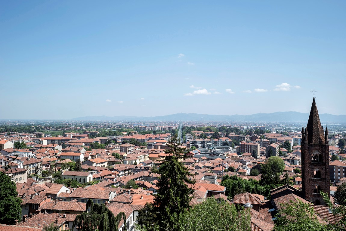 The view over Turin from the Castello di Rivoli Museum of Contemporary Art in Rivoli, Italy, May 1, 2019. Francesco Federico Cerruti's villa isn't far from the museum, and most of his collection is housed there. (Alessandro Grassani/The New York Times)