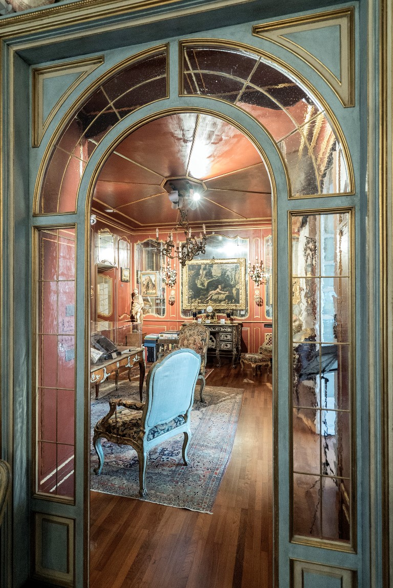 The study at Francesco Federico Cerruti's villa in Rivoli, Italy, May 1, 2019. Few knew that Cerruti, who died in 2015, owned artwork that would later be valued at $600 million and that he had been discreetly buying works from auctions and dealers for decades. (Alessandro Grassani/The New York Times)