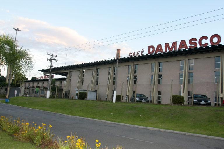 Fachada da fábrica do Café Damasco em novembro de 2010. Foto:  Valterci Santos / Arquivo / Gazeta do Povo.