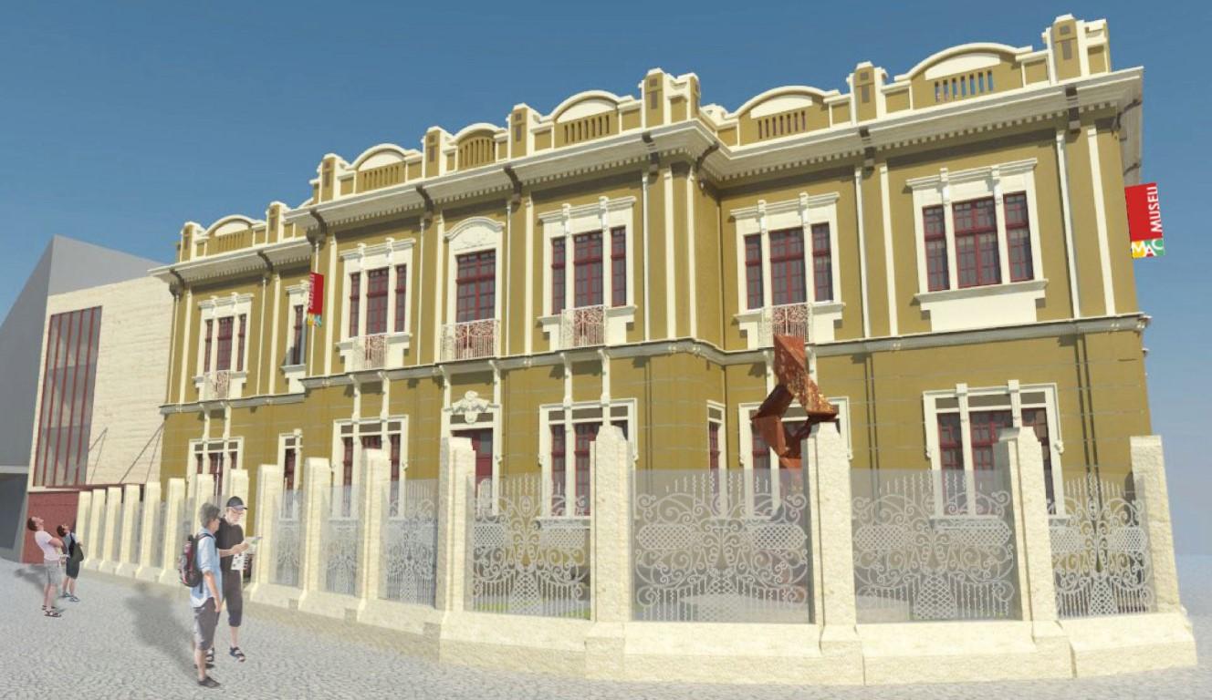 Museu do Centro de Curitiba vai ganhar café, nova cor e vidros com desenhos das antigas grades