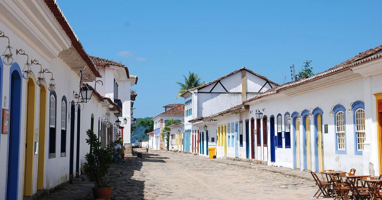 Região histórica e conjunto arquitetônico de Paraty. Foto: Wikimedia Commons
