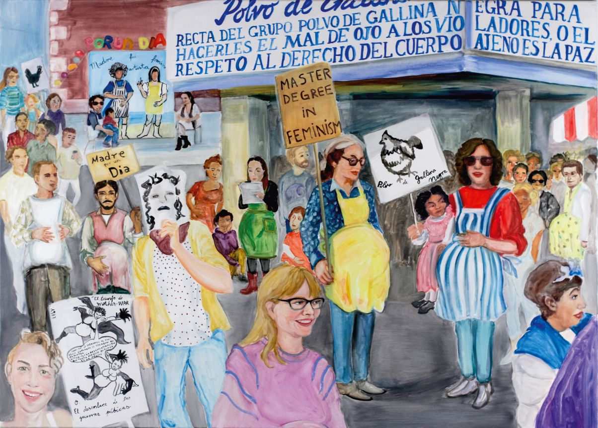 """Admiring Polvo de Gallina Negra, Mistresses of Feminist Art"", Kaj Osteroth & Lydia Hamann,  2016. Crédito: Smina Bluth"