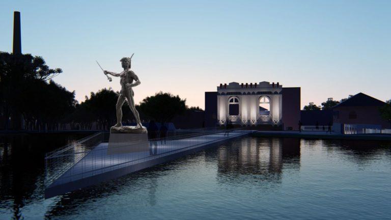 Memorial Paranista contempla 6 mil m² de área externa, 265 m² de área construída e ainda o Centro de Criatividade do Parque São Lourenço, com 2 mil m², que  será revitalizado. Imagem: Divulgação/SMMA