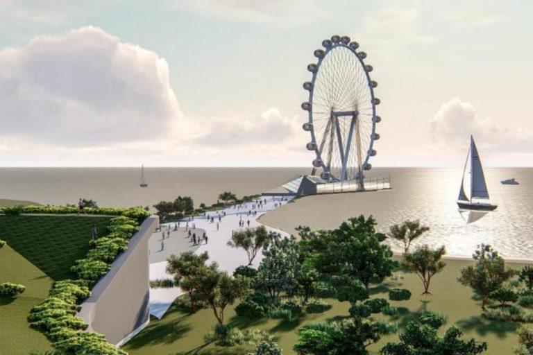 Roda-gigante ficará na região do Anfiteatro Pôr-do-Sol. Foto: Divulgação