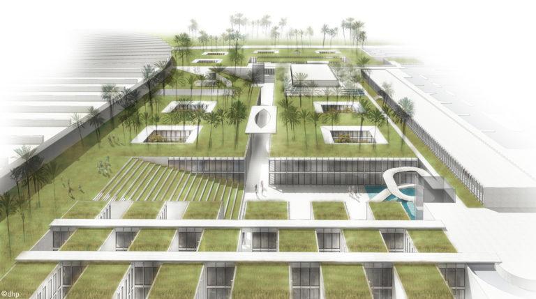 Feira de Trípoli, no Líbano, passou 25 anos abandonada. Agora projeto quer trasnformar espaço em centro de inovação. Imagem: MDDM / Reprodução