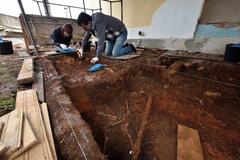 Escavações no Belvedere. Foto: Seec/Kraw Penas/Divulgação
