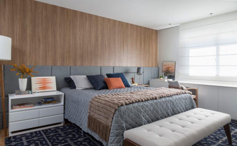 Cuidados com a disposição dos móveis, iluminação e isolamento acústico estão entre os itens importantes para um quarto amigo do sono. Foto: Denilson Machado / MCA Estúdio / Divulgação